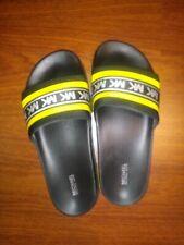 Michael Kors yellow size 8 Tyra Scuba slides (worn once)