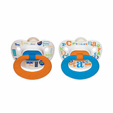 NUK® Orthodontic Pacifier, Baby Talk Boy, 0-6 Months, 2 Pack