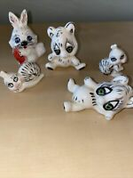 Vintage Ceramic figurines set of 5 Vintage miniature Animals- Set Of 5 Kitsch