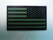 """REV USA FLAG PATCH GRN ON IR MB 3.5""""X 2 1/8"""" COL#342 WITH VELCRO® BRAND FASTENER"""