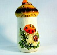 Vintage Merry Mushroom Ceramic 5 hole Salt Shaker Sears Roebuck 1976 Japan
