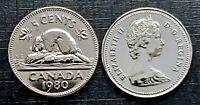 Canada 1980 Specimen Gem UNC Five Cent Nickel!!
