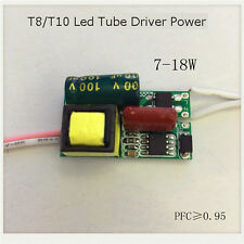 T8 T10 Led Tube Driver Power Supply 7-18W 8W 10W 18W Inside No-waterproof New 5X
