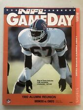 1992 DENVER BRONCOS FOOTBALL PROGRAM VS KANSAS CITY CHIEFS W/ TEAM INSERTS