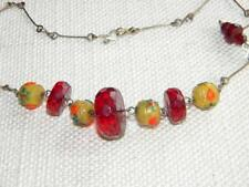 Glass Amber Necklace Vintage Costume Jewellery (1960s)
