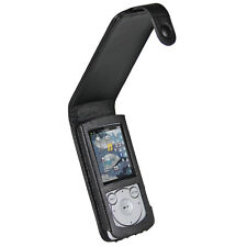 Black Leather Case Cover for Sony Walkman NWZ-S765 Series MP3 Player Holder