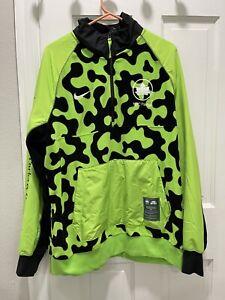 Nike Sportswear NYC Parks 1/2 Zip Fleece Jacket Green Mens Size Large CU1394-313