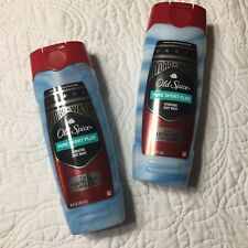 TWO Old Spice Pure Sport Plus Hydrating Body Wash 16 Ounces