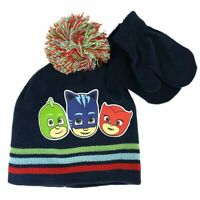 PJ Beanie and Gloves Set Navy Blue | Hat and Gloves for Toddler Boys