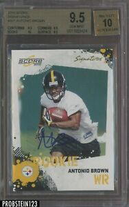 2010 Score #307 Antonio Brown Steelers RC Rookie BGS 9.5 w/ 10 AUTO