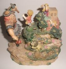 David and Goliath Music Box Figurine