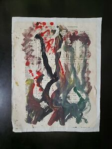 Original Purvis Young Painting On Paper