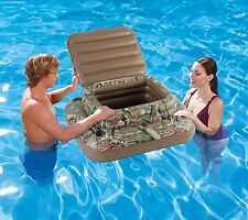 """38""""x 33"""" Floating Cooler Bottle Holder Storage Box Pool Inflatable Cup Holders"""