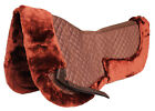 Horse English Quilted SADDLE Half Pad Correction Wither Relief Faux Fur Brown