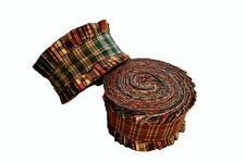 2.5 inch Homespun Jelly Roll 100% cotton fabric quilting strips