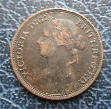 1879 victoria Bun cabeza Farthing - 1/4d