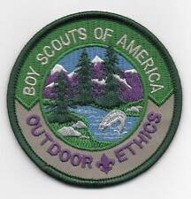 "Outdoor Ethics BSA Patch, ""Since 1910"" Slogan Back, Mint!"