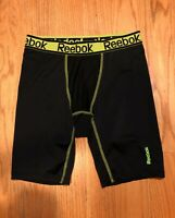 Reebok Men's Performance Neon/Black Running Compression Shorts Size S Small S/CH
