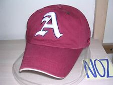 ARKANSAS RAZORBACKS BASEBALL CAP/HAT-COLOSSEUM ADJ/CURVED BILL/BERGUNDY/NEW!!!