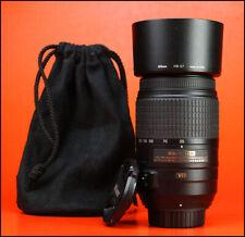 Nikon AF-S 55-300mm F4.5-5.6 VR Telephoto DX G AF Zoom lente + ED F/R CAPS & Capucha
