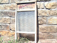 Old Glass Ribbed Atlantic clothes washing Washboard 511