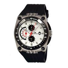 Danish Design IQ12Q739 48mm Chronograph Steel Black Rubber Quartz Men's Watch
