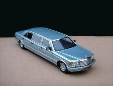 Mercedes-Benz  500SEL 6-door  Stretch 1985  Limousine ( Metal blue)1/43