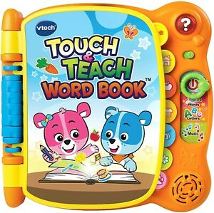VTech Touch and Teach Word Book Orange BRAND NEW