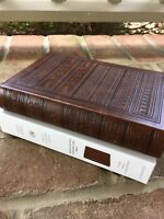 ESV Personal Size Bible TruTone Brown Engraved Design ~ Large 9 point font!