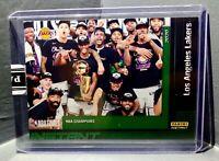 Los Angeles Lakers 2020 Panini NBA Champions #30 Green Parallel Card 10/10