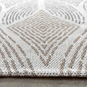 Beige Stitch Flatweave Rugs Large Small Non Shed Area Mat New Modern Hallway Rug