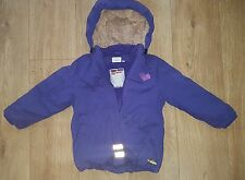 LEGOWEAR Girls Purple Coat 3-4 years Detachable hood Kids Winter Coats Warm