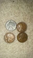 💰U.S LINCOLN PENNIES (1930, 1940,1943, 1953) VINTAGE OLD WWII ERA COIN