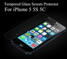 For IPhone 5 5S 5C SE .40mm Tempered Shatterproof Glass Screen Cover Protector