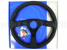 Sparco Steering Wheel - R383 Champion (330mm/39mm Dish/Perforated Leather)
