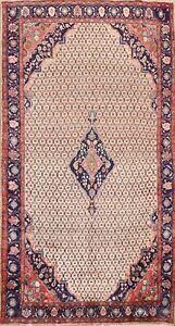 Vintage Geometric Brown Traditional Area Rug Wool Oriental Tribal Carpet 5x10 ft