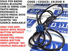 Câble Aux femelle MP3 FIAT PANDA de 12 radio CONTINENTAL SANS SOURCE DISPONIBLE