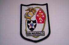Patch del USMC 6th marines en Mass ca 10x7 cm