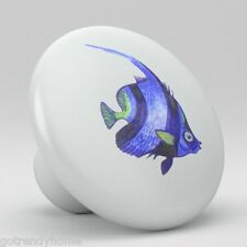 Tropical Fish Ceramic Knobs Pull Kitchen Bathroom Closet Drawer Door Cabinet 084