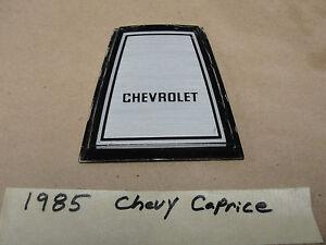 OEM 1985 Chevrolet Caprice 85 CENTER HORN PAD CHEVROLET EMBLEM
