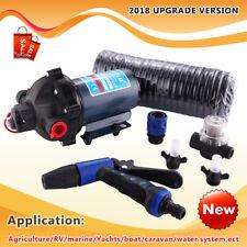 New 12V Washdown Pump Kit 20L/min 70PSI Pressure Wash Cleaning Deck Caravan Boat