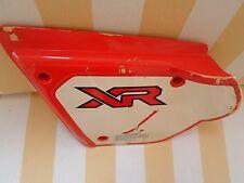 Genuine Used Honda XR200 1982 Left Side Cover panel twin shocks model