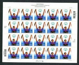US 3771, 2003 SPECIAL OLYMPICS, $16.00 SELF ADH PANE OF 20, MNH, (US266)