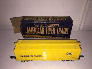 GILBERT AMERICAN FLYER 639 BOX CAR in ORIGINAL BOX - Vintage Model Train RR