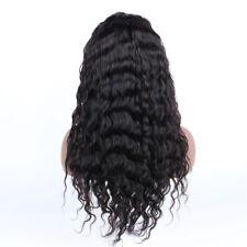 "Cut Extra Lace 22"" Long Human Hair 360 Lace Wig Natural Color Deep Loose Wave"