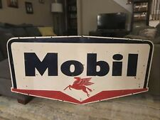 New ListingLarge Double Sided Mobil Gas Oil Porcelain Sign