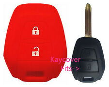 RED SILICONE CAR KEY COVER CASE SUITS ISUZU DMAX D-MAX MUX TRUCK UTE 2013