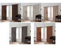 """Valeron Stradivari Curtain Panel 84"""" L Brown, Charcoal, Natural, Rust, Seafoam"""