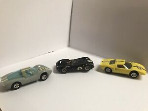 vintage Cox And Strombecker slot cars With Cox Cheetah Box