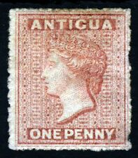 ANTIGUA Queen Victoria 1864 1d Dull Rose Rough Perf 15 Wmk Small Star SG 6 MINT